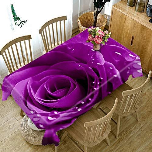 XXDD Blumenlandschaft 3D Muster Tischdecke Staubdichte Tischdecke Rechteckige Tischdecke wasserdichte und staubdichte Tischdecke A1 140x160cm