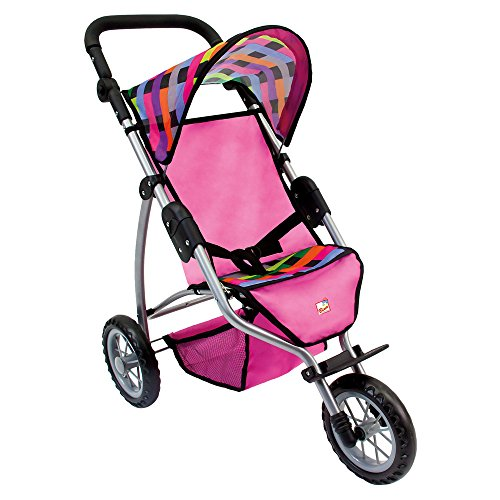 Bino & Mertens Europe 82912 - Jogger Puppenwagen 3 Räder, groß