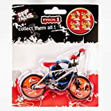 Grip and Tricks - Orange Finger BMX Freestyle with 2 Extra Toy Bike Wheels and 1 Finger Bikes Tool - Pack 1 Finger Toy for 6+ Years Old Kid