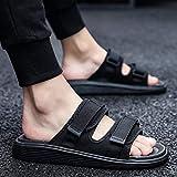 B/H Easy Close Hombre Zapatos,Zapatillas de Verano Ajustables, Sandalias con...