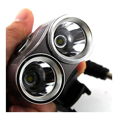 NOLOGO Yg-ct Fahrradlampe Frontleuchte 5000 Lumen Scheinwerfer Waterpoof Fahrrad-Licht-Lampe Fahrrad Taschenlampe LED + 6400mAh Batterie (Farbe : Schwarz)
