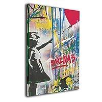 Skydoor J パネル ポスターフレーム 女の子 ハートの風船 インテリア アートフレーム 額 モダン 壁掛けポスタ アート 壁アート 壁掛け絵画 装飾画 かべ飾り 30×20
