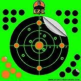 TacX Pro Gear EZ-C Shooting Targets | 8 inch Round Splatter Target | Bright Fluorescent Burst On Impact | Range Practice | Gun, Rifle, Pistol, BB Gun, Airsoft, Air Rifle (Green, 25)