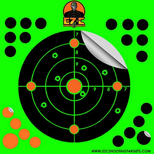 TacX Pro Gear EZ-C Shooting Targets | 8 inch Round Splatter Target | Bright Fluorescent Burst On...