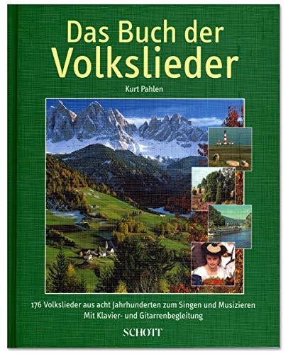 Das Buch der Volkslieder - Liederbuch von Kurt Pahlen - Volkslieder aus 8 Jahrhunderten mit Klavier- und Gitarrenbegleitung - Liederbuch (gebundene Ausgabe) - mit herzförmiger Notenklammer
