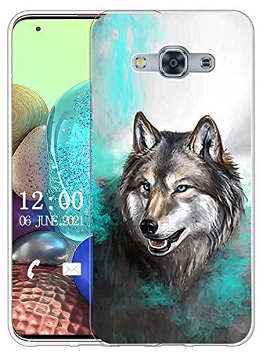 Sunrive Cover Compatibile con Samsung Galaxy J3 PRO, Custodia Case in Molle Trasparente Silicone Morbida Flessibile AntiGraffio Protettiva Back custodie(X Lupo 1)