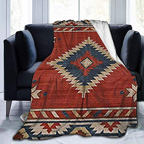 Dusk Fort Throw Blanket Manta De Vellón Ultra Suave Diseño Sudoeste del Nativo Americano Manta Cálida Manta De Tiro Manta De Cama Gruesa para Sofá Forro Polar 60X50 Pulgadas