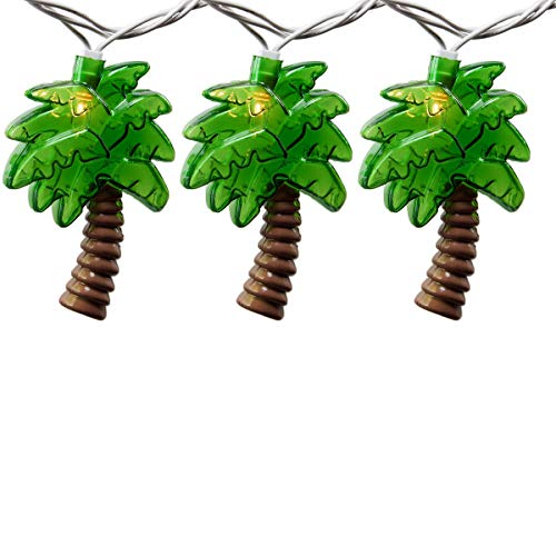 Romasaty Palm Tree String Lights - Summer Patio String Lights, Hawaiian Theme String Lights for Bedroom or Birthday Decoration String Lights