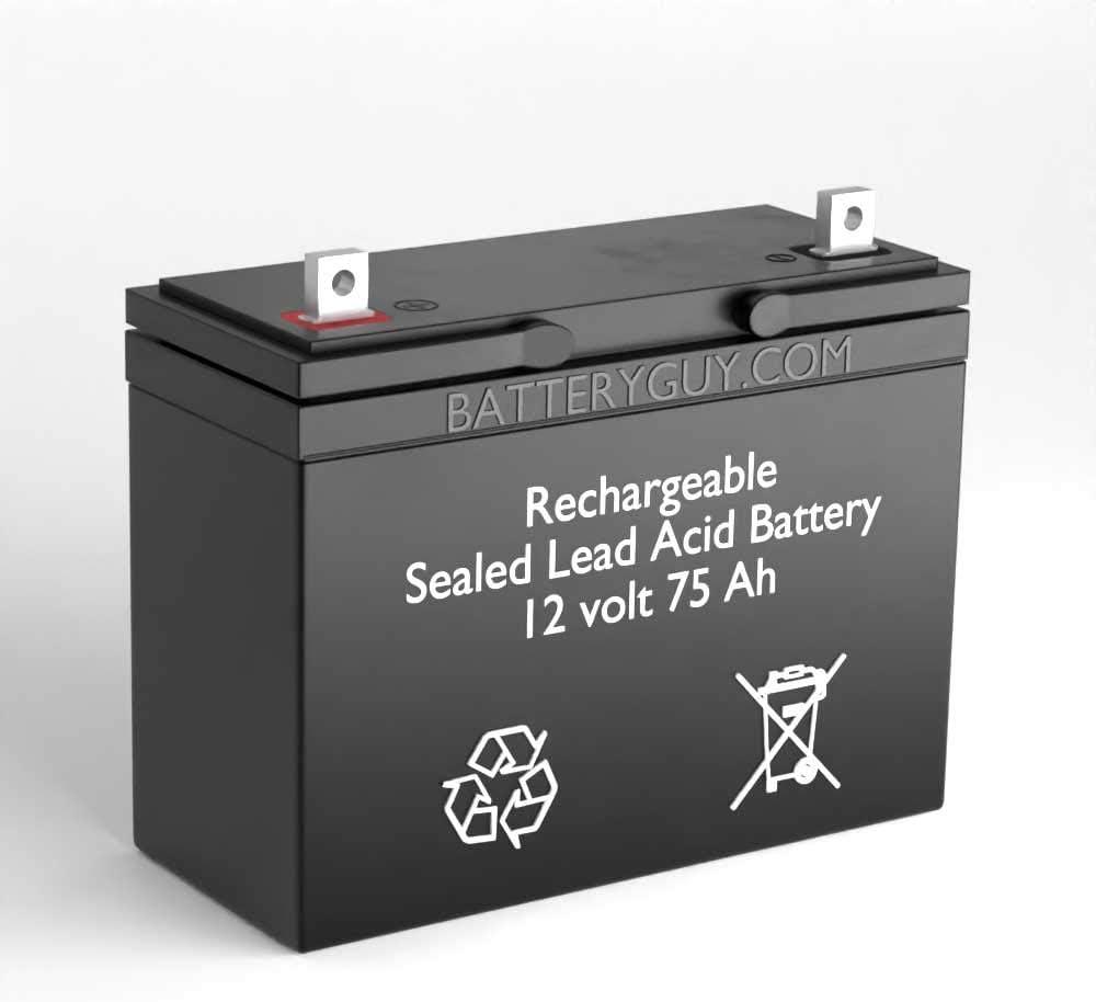 BatteryGuy Battery BG-12750NB - 12V for Lit SLA Replacement Max 62% OFF 75AH service