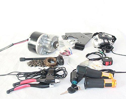 Motor de Cepillo L-Fast 250W para Acelerador de Bicicleta con Interruptor de Llave y Kit de Motor Simple de Voltaje para Bicicleta eléctrica DIY (24V 250W)
