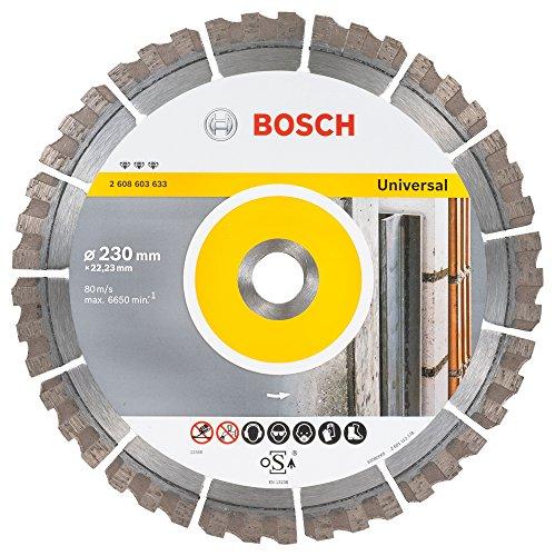Bosch Professional Diamanttrennscheibe Best für Universal, 230 x 22,23 x 2,4 x 15 mm, 2608603633