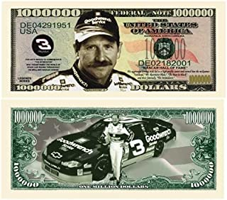 American Art Classics Pack of 5 - Dale Earnhardt Sr. Senior Million Dollar Bill