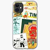 Compatible con iPhone 6 6s 7 Plus 8 Plus X XS XR 11 Pro MAX SE 12 Pro MAX Funda Long Milou Tintin Sleeve and Stuff Cajas del Teléfono Cover