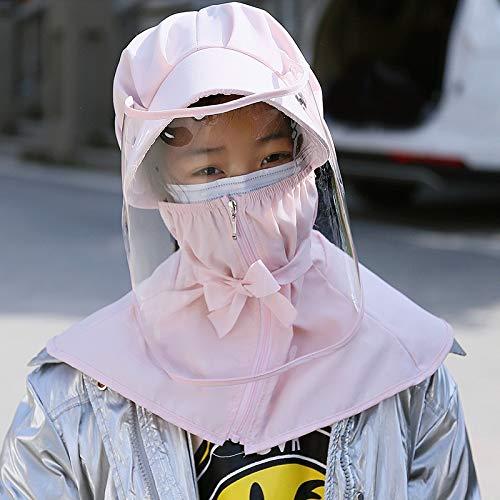 RTOFE Außen kugelsicher Hut Fischer Epidemie Maske Sicherheit Isolation Hut weiblicher Sonnenschutz einstellbar Hut Fischer (Color : Pink, Size : Adult)
