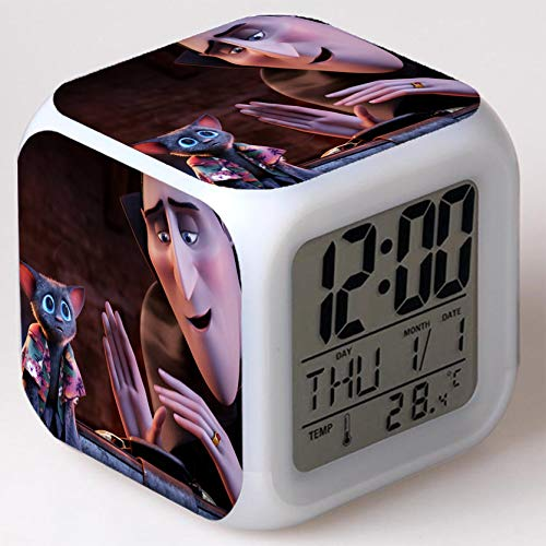 Kids Wizard Hostel Alarm Clocks Kids LED Clock Cartoon Night Light Flash 7 Color Changing Digital Clock Electronic Desk Clock a3