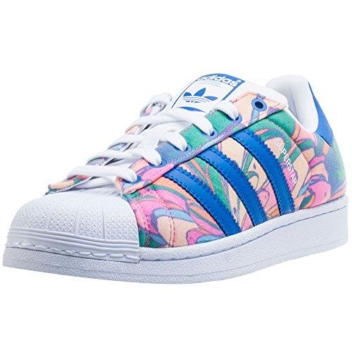 adidas Schuhe – Superstar W blau/blau/weiß Größe: 38