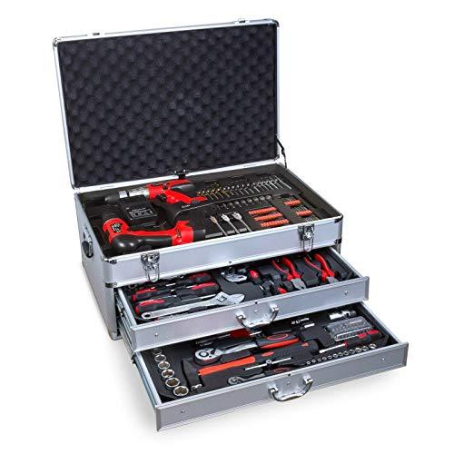 nxtbuy Werkzeugkoffer 206 teilig mit...