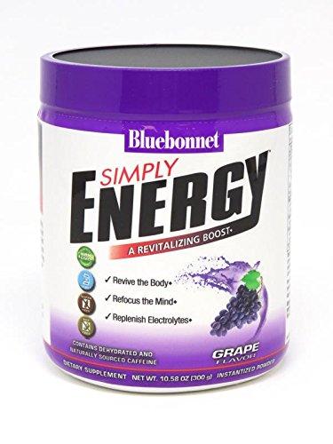 Bluebonnet Nutrition Simply Energy Powder, Grape, 10.58 Ounce