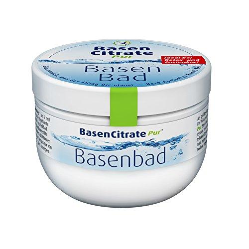 MADENA Basen Citrate Pur Basenbad, Badesalz Hautpflege bei Fastenkur, basischer Badezusatz zur Pflege der Haut