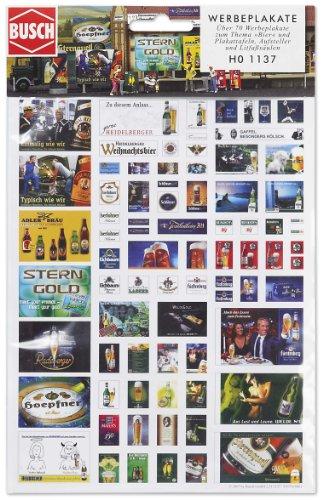 Busch 1137 - Werbeplakat-Set Brauerei