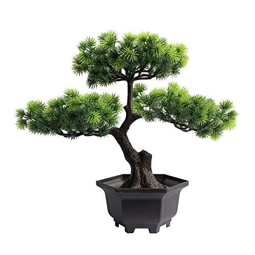 yoerm Artificial Plants Bonsai Tree Fake Plants Room Decor for Bedroom Aesthetic and Bathroom Decor, Farmhouse Decor (A- Style)