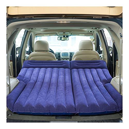 Guoziya Air Matelas Gonflable Flocage Lit SUV SUV Seat Portable Double Mat Sommeil Camping Voyage en Plein Air Gratuit Pliant Matelas Pneumatique, 190X135cm (Couleur : Purple)