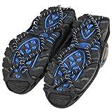 Juan-375 Crampones - Funda para zapatos (1 par, para hielo, crampones de hielo, pinzas de hielo, para botas de nieve, antideslizantes, ligeros y antideslizantes (color: L)