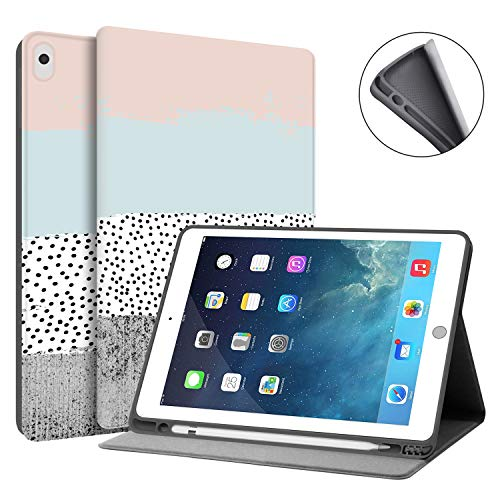 HUASIRU Painting Case for iPad Air 10.5 inches (3rd Gen) 2019 / iPad Pro 10.5 inches 2017 - Built-in Pencil Holder, Colors