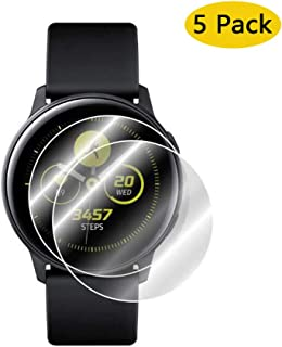Shield Screen Protector Compatible with Samsung Galaxy Watch Active 40mm Watch Active 2 40mm [5-Pack] [Full Coverage] Anti-Bubble HD Clear TPU Film