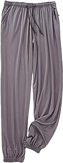 oytto Men's Plain Cotton Pyjama Lounge Bottoms with Pockets Pants Loungewear Nightwear Trousers