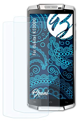 Bruni Schutzfolie kompatibel mit Oukitel K10000 Folie, glasklare Bildschirmschutzfolie (2X)