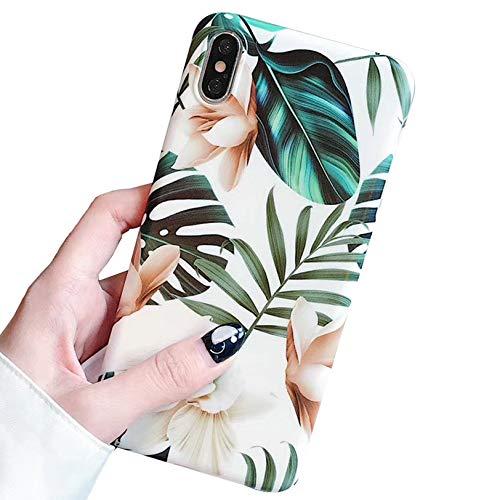 Tybiky Carcasa para iPhone 11, iPhone 11, funda de silicona suave, moderna, elegante, resistente a los arañazos, antigolpes, ultrafina, para Apple iPhone 11, diseño de hojas blancas