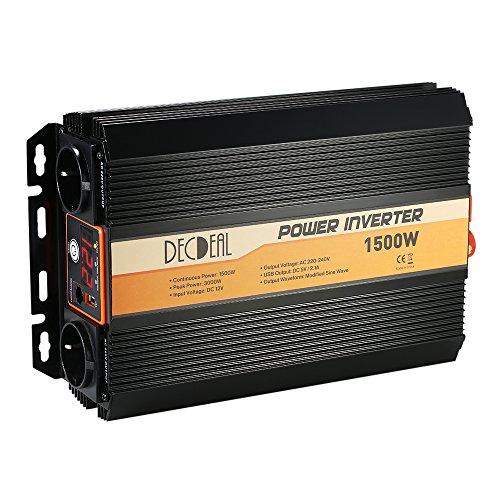 Festnight 750 W DC 12 V naar AC220-240 V Auto Power Inverter gemodificeerde sinusgolf huishoudelijke stroomomvormer met 4,2 A Dual USB en stopcontact