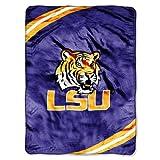 NCAA LSU Tigers Force Royal Plush Raschel Throw Blanket, 60x80-Inch