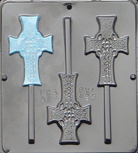 Celtic Cross Lollipop Chocolate Candy Mold Religious 425