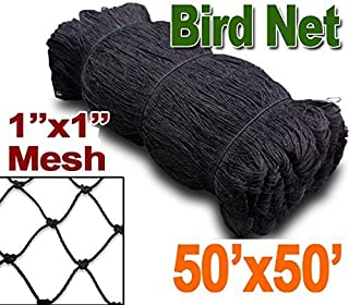"""Meichang Scarlett 25` X 50` or 50` X 50` Net Netting for Bird Poultry Aviary Game Pens New 1"""" Square Mesh Size (50` x 50`)"""