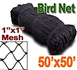 Meichang Scarlett 25' X 50' or 50' X 50' Net Netting for Bird Poultry Aviary Game Pens New 1' Square Mesh Size (50' x 50')