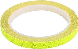 NiceCore Réflecteurs vélo bicycle bande réfléchissante à vélo fluorescent Ruban adhésif de sécurité Décor jaune autocollan...
