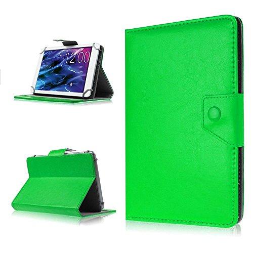 NAUC Tasche für Medion Lifetab P8502 Hülle Tablet Schutzhülle Case Cover Stand, Farben:Grün