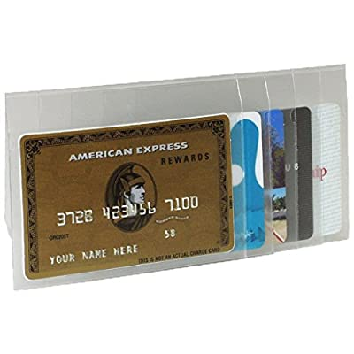 Buxton Stacked Vinyl Window Insert for Secretary or Checkbook Wallet