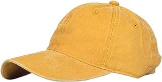 Belleet Men's Baseball Cap Dad Hat Washed Distressed Easily Adjustable Unisex Plain Ponytai Trucker Hats