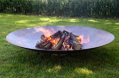 Primrose 150cm Corten Steel Fire Pit and Water Bowl from Primrose