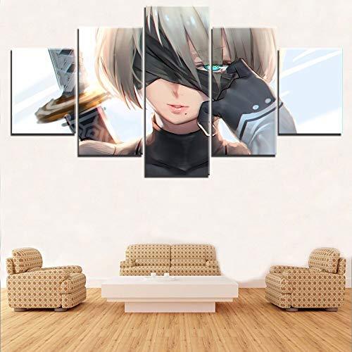 Tong99 Modern schilderij, 5 nieuwe soorten borden, modulair canvas, wanddecoratie L-30x40 30x60 30x80cm Frameloos.