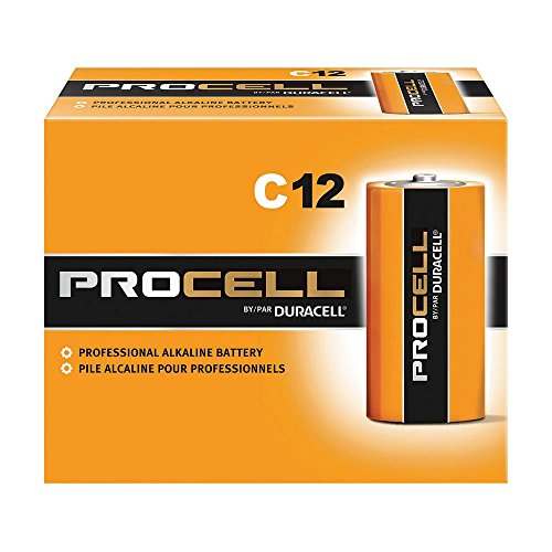 ALLIANCE DURPC1400 Duracell PROCELL Professional Alkaline Batteries, Size C, Black/Grey/Red (Pack of 12)