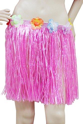 Wicked Fun - Gonna Hawaiana Hula con Fiori, 40 cm, Colore: Rosa