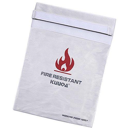 Kuuqa Bolsa Resistente al Fuego del Document Funda de Prueba de Fuego, 27 X 37.5cm