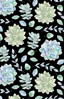 Bullet Journal: Succulents Plants Black Notebook Dotted Grid, (5.5 x 8.5)