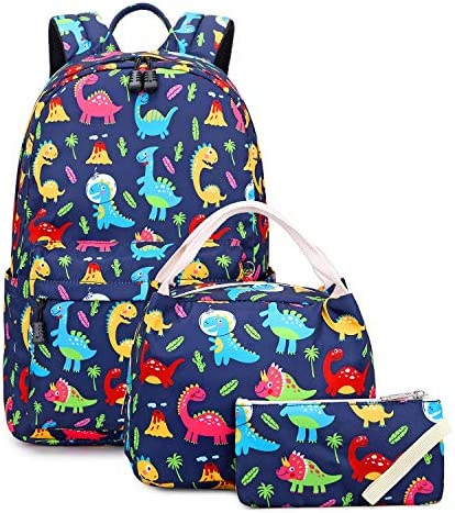 Abshoo Lightweight Cute Dinosaur Backpacks For School Kids Boys Girls Backpack With Lunch Bag product image