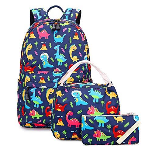 Abshoo Lightweight Cute Dinosaur Backpacks For School Kids Boys Girls Backpack With Lunch Bag (Set Dinosaurs)