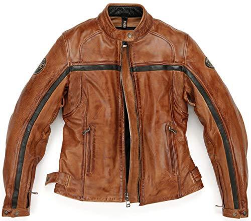 Helstons Motorradjacken Daytona Frau Leder Crust Camel, Camel, XL